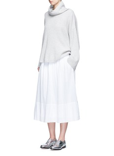 James Perse Puckered drawstring cotton gauze skirt