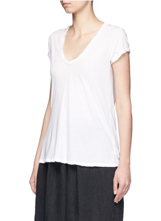 Front View - Click To Enlarge - James Perse - V-neck cotton jersey T-shirt