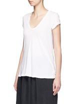 V-neck cotton jersey T-shirt