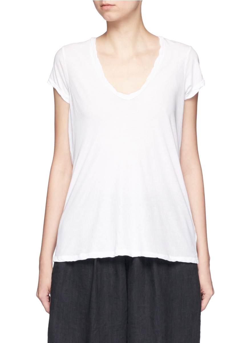 V-neck cotton jersey T-shirt by James Perse