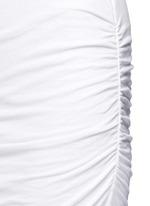 Twisted sleeve tube dress