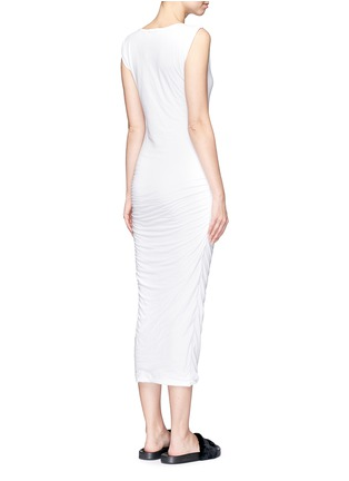 Back View - Click To Enlarge - James Perse - Twisted sleeve tube dress