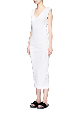 Front View - Click To Enlarge - James Perse - Twisted sleeve tube dress