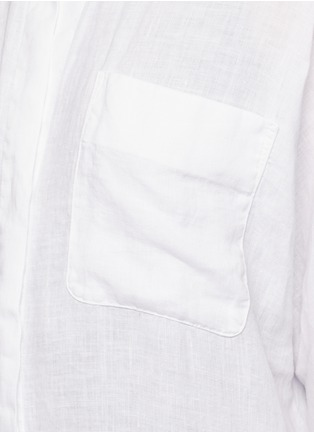 Detail View - Click To Enlarge - James Perse - Dolman sleeve linen shirt dress