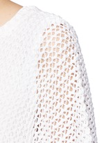Cotton-linen high gauge poncho top