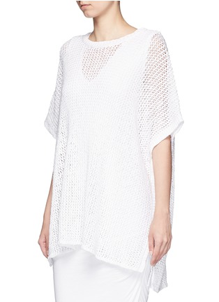 Front View - Click To Enlarge - James Perse - Cotton-linen high gauge poncho top