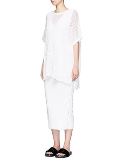 James Perse Cotton-linen high gauge poncho top