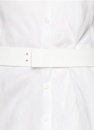 Detail View - Click To Enlarge - Theory - 'Diaz' organza shirt dress