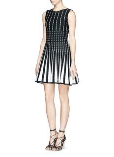 RVN'Diamond' circular flare jacquard dress