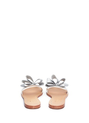 Back View - Click To Enlarge - Kate Spade - 'Cicely' glitter bow leather slide sandals