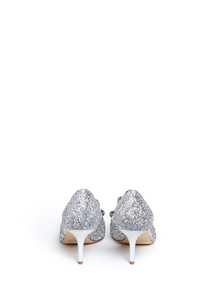 Back View - Click To Enlarge - Kate Spade - 'Sela' bow glitter peep toe pumps