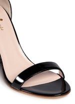 'Idelle' floral cutout heel patent leather sandals