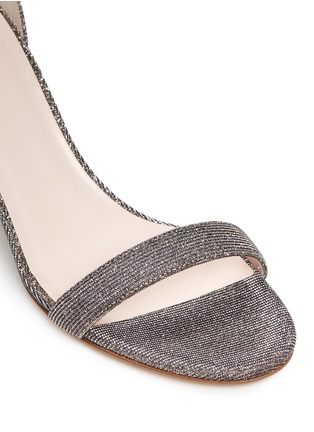 Detail View - Click To Enlarge - Kate Spade - 'Elsa' metallic glitter lamé sandals