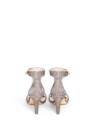 Back View - Click To Enlarge - Kate Spade - 'Elsa' metallic glitter lamé sandals