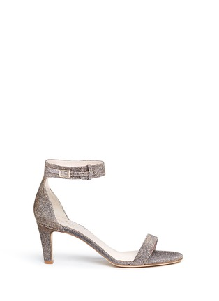 Main View - Click To Enlarge - Kate Spade - 'Elsa' metallic glitter lamé sandals