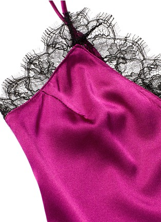 Detail View - Click To Enlarge - Kiki De Montparnasse - Lace inset silk camisole