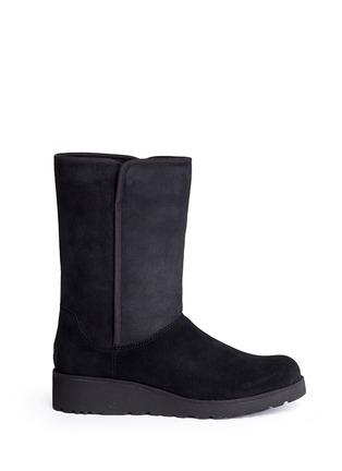 Main View - Click To Enlarge - Ugg Australia - 'Amie' twinface sheepskin wedge boots