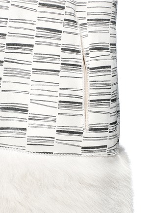 Detail View - Click To Enlarge - KARL DONOGHUE - Reversible stripe print lambskin shearling gilet