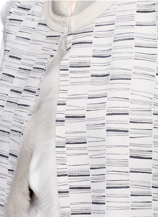 KARL DONOGHUE-Reversible stripe print lambskin shearling gilet
