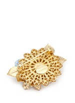 Swarovski crystal beaded bouquet brooch