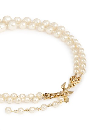 Detail View - Click To Enlarge - Miriam Haskell - Bird clasp two strand Baroque pearl choker necklace