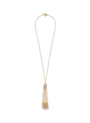 Main View - Click To Enlarge - Miriam Haskell - Baroque pearl tassel pendant necklace