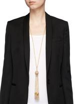 Baroque pearl tassel pendant necklace
