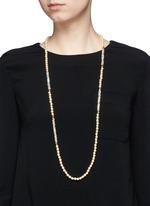 Swarovski crystal glass pearl strand necklace