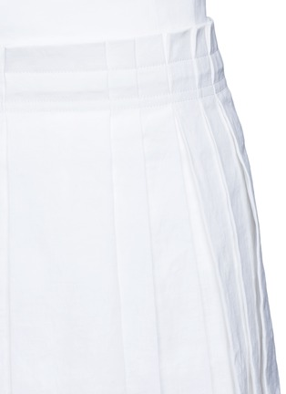 Detail View - Click To Enlarge - Dkny - Inverted pleat linen skirt belt