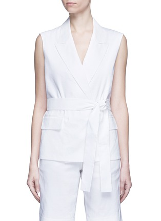 Main View - Click To Enlarge - Dkny - Open back tie waist tailored vest