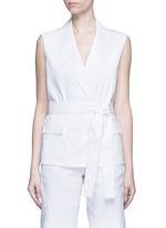 Open back tie waist tailored vest