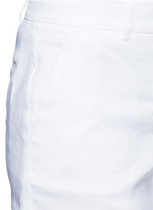 Detail View - Click To Enlarge - Dkny - Stretch linen tailored bermuda shorts