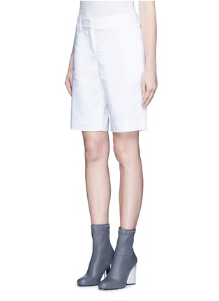 Front View - Click To Enlarge - Dkny - Stretch linen tailored bermuda shorts