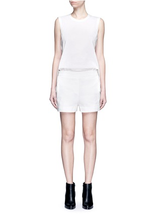 Dkny - Button back elastic waist linen rompers