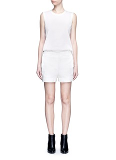 Dkny Button back elastic waist linen rompers