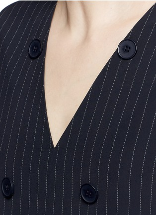 Detail View - Click To Enlarge - Dkny - Button front panel pinstripe shift dress