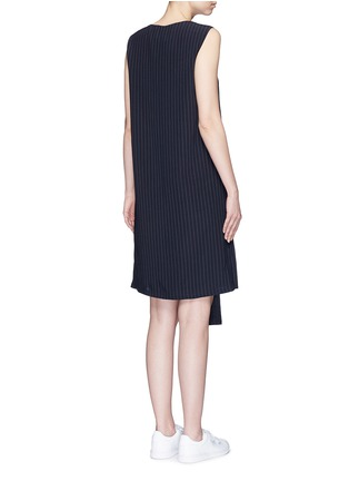 Back View - Click To Enlarge - Dkny - Button front panel pinstripe shift dress