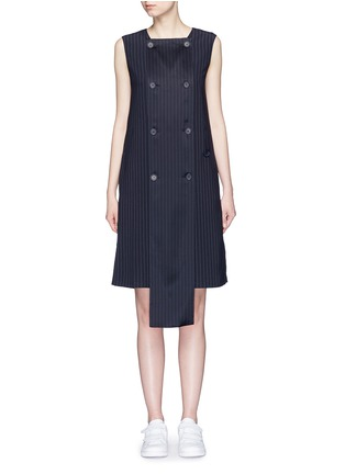Main View - Click To Enlarge - Dkny - Button front panel pinstripe shift dress