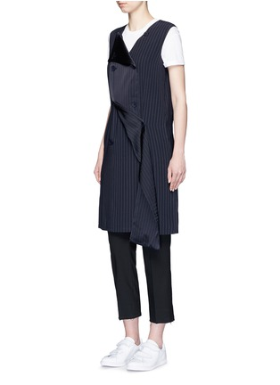 Figure View - Click To Enlarge - Dkny - Button front panel pinstripe shift dress