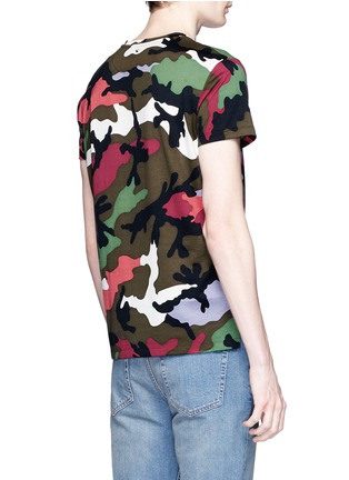 Back View - Click To Enlarge - Valentino - Camouflage print T-shirt