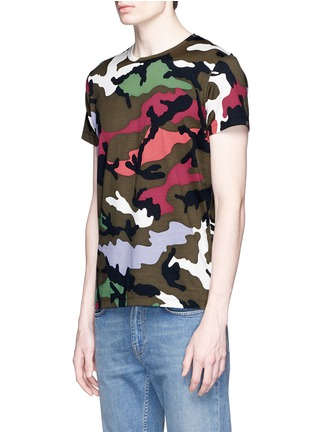 Front View - Click To Enlarge - Valentino - Camouflage print T-shirt