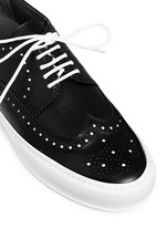 'Tolk' detachable kiltie leather brogue sneakers