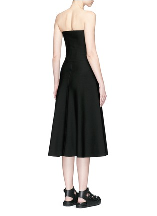 Back View - Click To Enlarge - Alexander Wang  - Belted cutout strapless knit dress