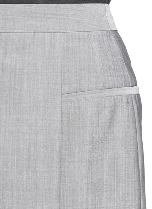 Detail View - Click To Enlarge - Alexander Wang  - Pleated front wool-mohair shorts