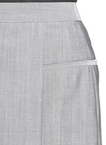 Pleated front wool-mohair shorts