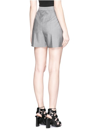 Back View - Click To Enlarge - Alexander Wang  - Pleated front wool-mohair shorts