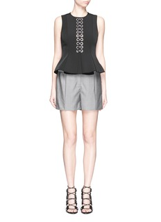 ALEXANDER WANG  Pleated front wool-mohair shorts