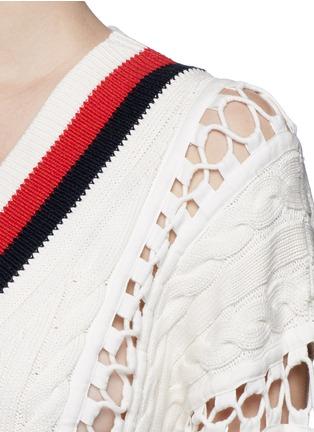 Detail View - Click To Enlarge - Alexander Wang  - Flightsuit lacing cricket cable sweater