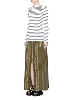 ALEXANDER WANG Flightsuit lacing cotton-silk skirt