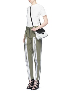 ALEXANDER WANG  Flightsuit lacing cotton twill pants